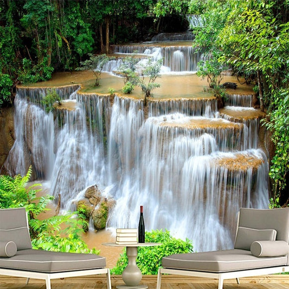 GREEN LANDSCAPE WATERFALL BACKDROP