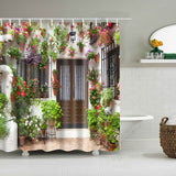 WOOD PATTERN WATERPROOF SHOWER CURTAIN - Hey Magento