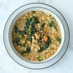 White Bean & Kale Soup (Serves 2, GF, DF)