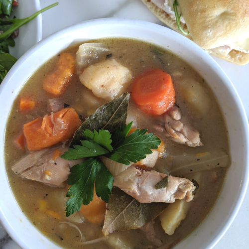 Chicken Stew with Fennel & Parsnip (Serves 2, GF)