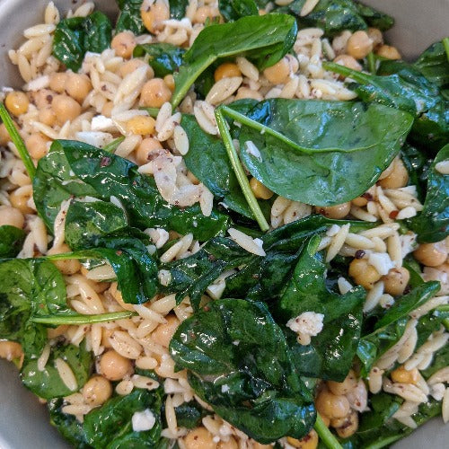 Orzo & Spinach Salad  (Serves 2)