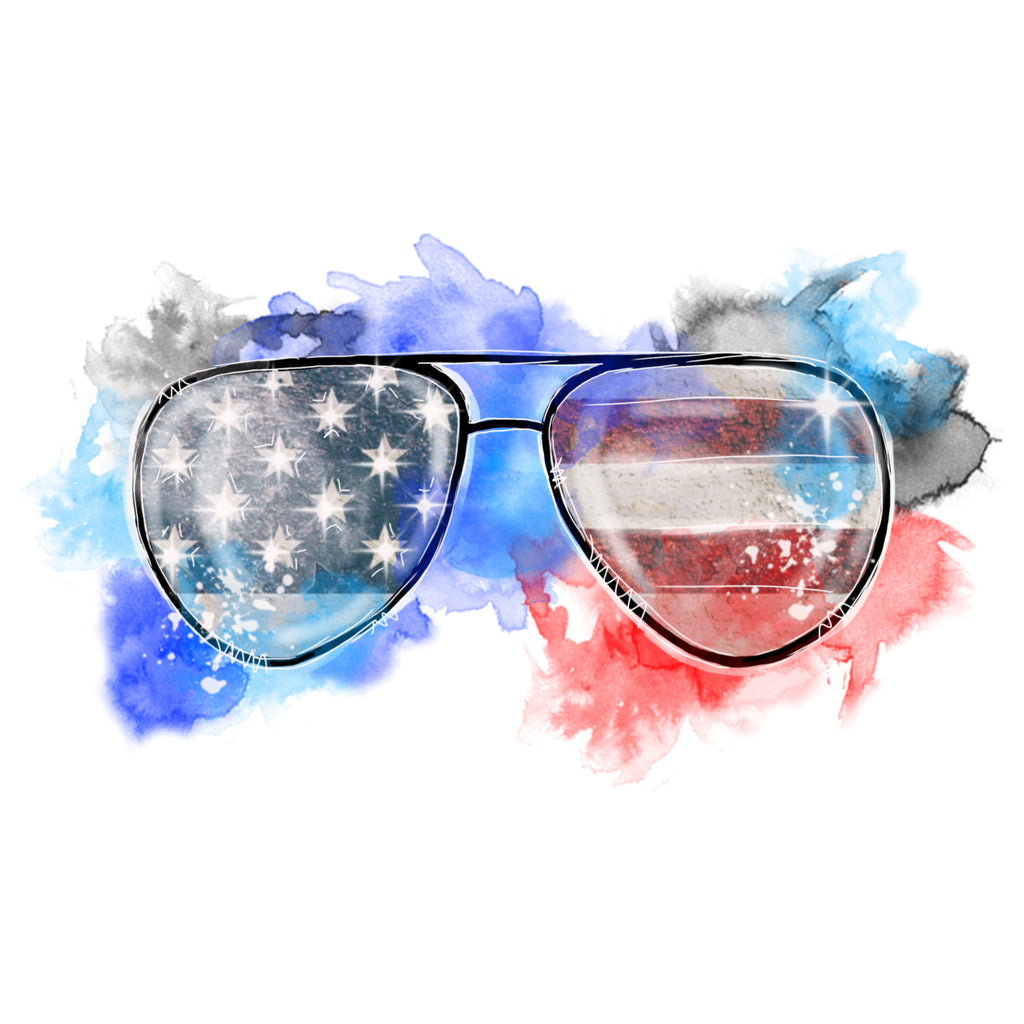 American Flag Watercolor Aviators