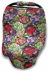 Vintage Roses Newborn Set (Car Seat Cover and Minky Blanket)