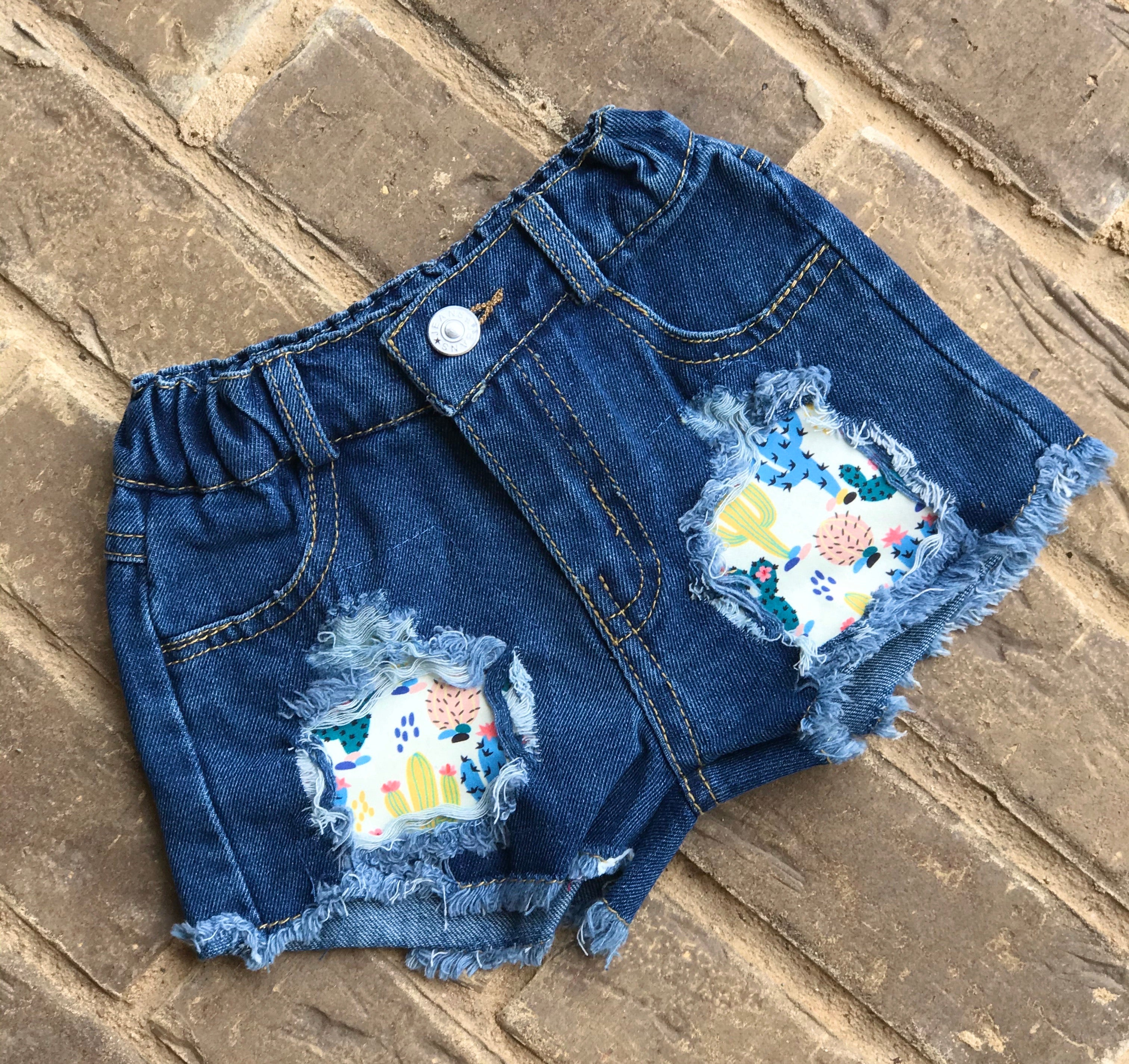 NOT A HUGGER Denim Shorts Set