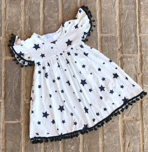 Shining Star Pom Pom Dress