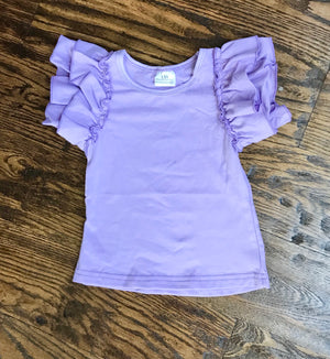 Purple Ruffles Shirt