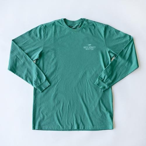 Climb Tee - Long Sleeve - Green-Tees-Rock Monkey Outfitters