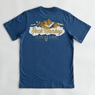 Climb with the Clouds Tee - Short Sleeve - Cool Blue-Tees-Rock Monkey Outfitters