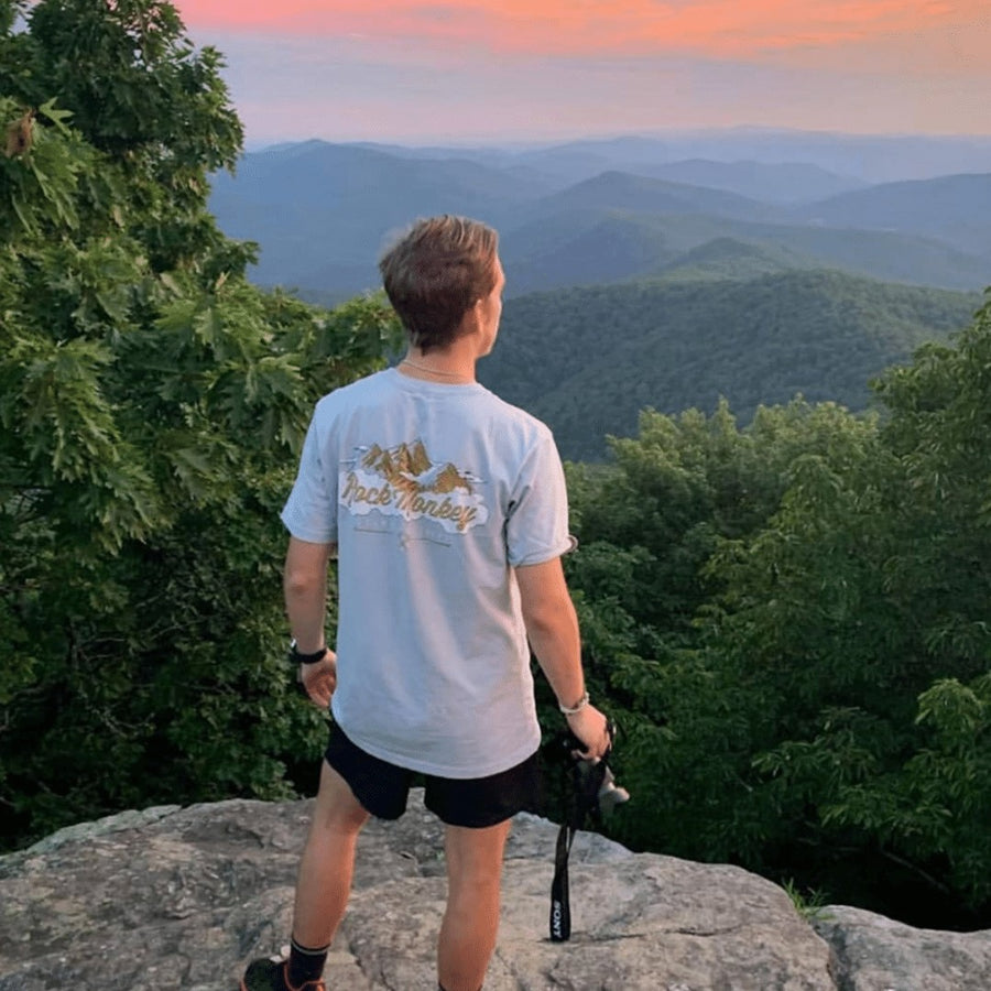 Climb with the Clouds Tee - Short Sleeve -Granite-Tees-Rock Monkey Outfitters