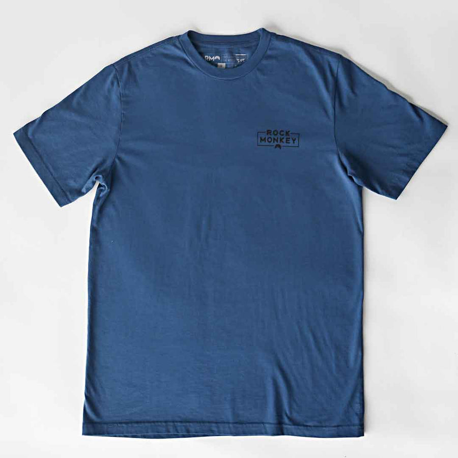 Dirt Bag Tee - Short Sleeve - Cool Blue-Tees-Rock Monkey Outfitters