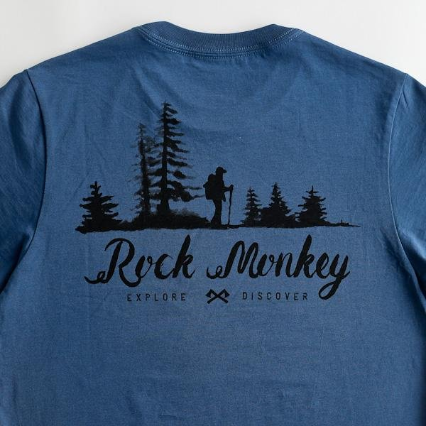 Explore Discover Tee - Short Sleeve - Cool Blue-Tees-Rock Monkey Outfitters