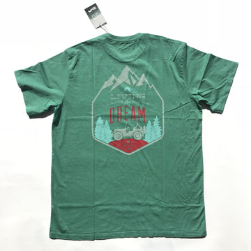 Living the Dream Tee - Short Sleeve - Green-Tees-Rock Monkey Outfitters