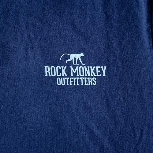 Living the Dream Tee - Short Sleeve - Navy-Tees-Rock Monkey Outfitters