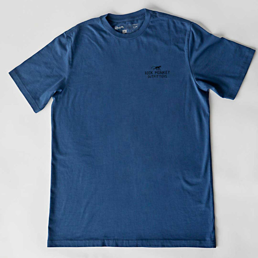 Mount Hood Tee - Short Sleeve - Cool Blue-Tees-Rock Monkey Outfitters