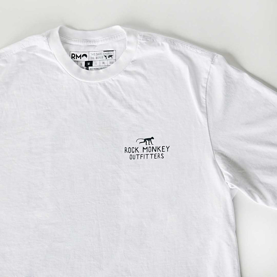 Mount Hood Tee - Short Sleeve - White-Tees-Rock Monkey Outfitters