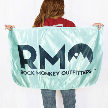 Rock Monkey Outfitters Logo Flag Green-Accessories-Rock Monkey Outfitters