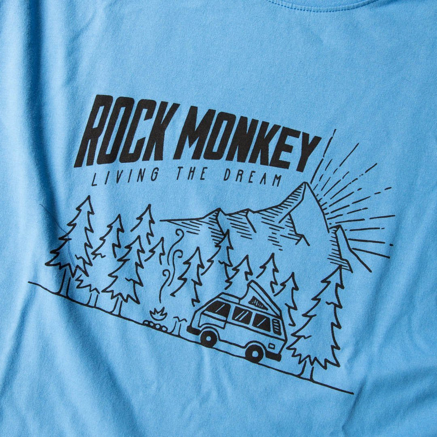 The Camper Tee - Short Sleeve - Sky Blue-Tees-Rock Monkey Outfitters