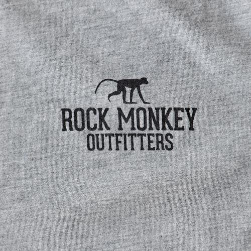 The Climb Tee - Short Sleeve - Heather Grey-Tees-Rock Monkey Outfitters