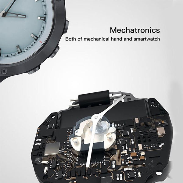 Waterproof Luminous hands Heart Rate Monitor Stainless Steel Bezel BRIM Smartwatch - SMART VOSS - https://smartvoss.com