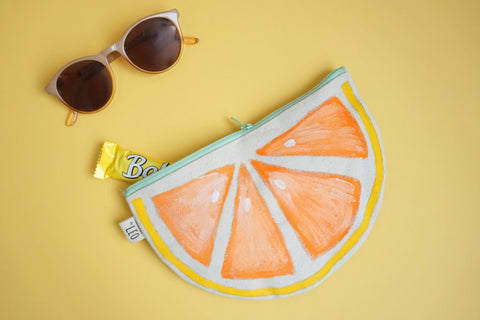 diy pochette fruits