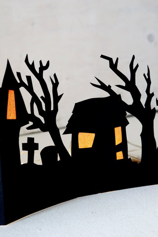 DIY village d'Halloween en papier - DIY paper halloween village - FREE pdf