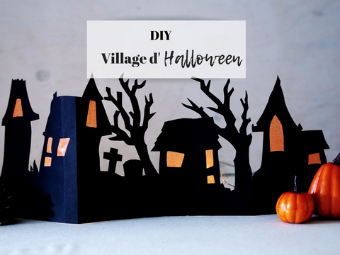 DIY village d'halloween en papier - DIY paper halloween village
