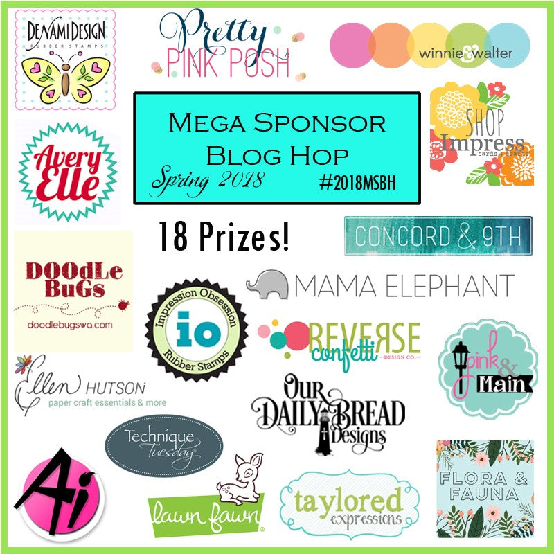 2018 Mega Sponsor Spring Blog Hop Begins Today