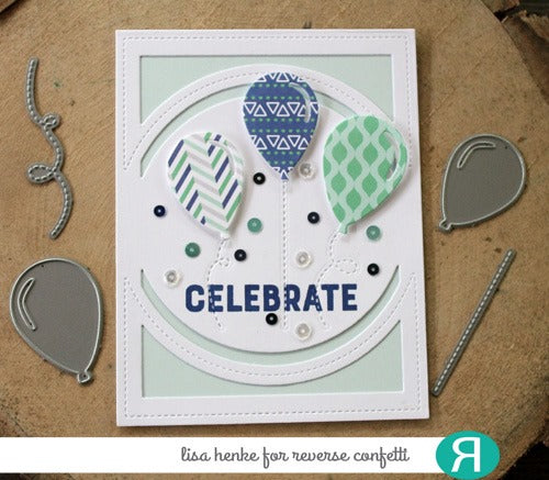 Center Circle Cover Panel Confetti Cuts