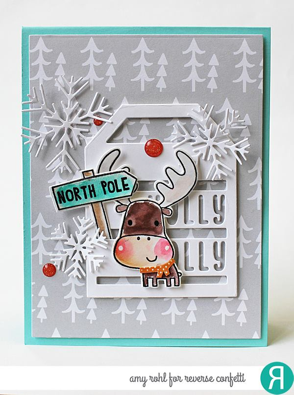Holly Jolly Tag Layer Confetti Cuts