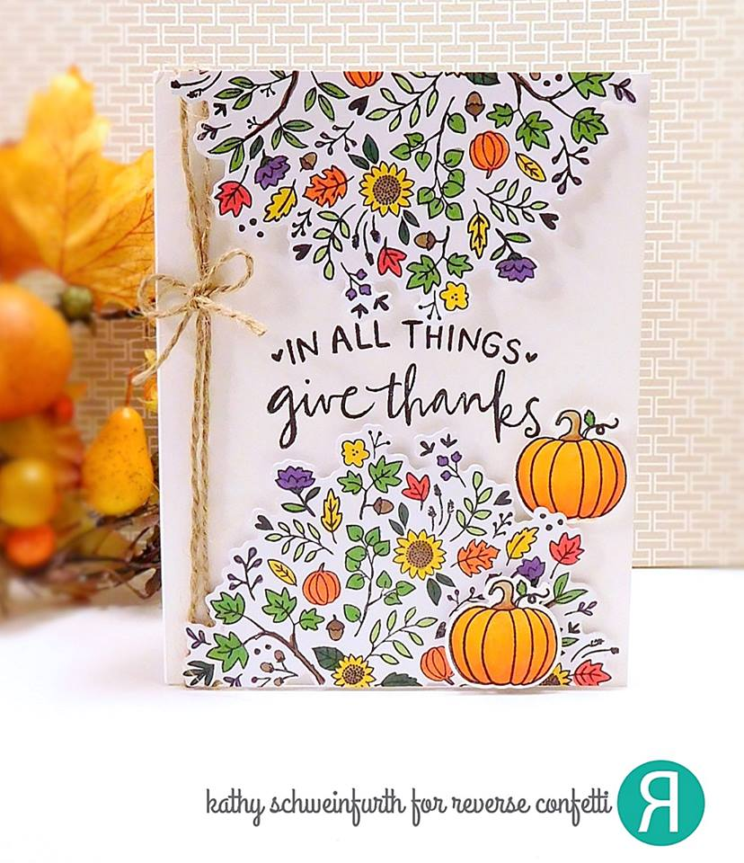 Autumn Blessings Confetti Cuts
