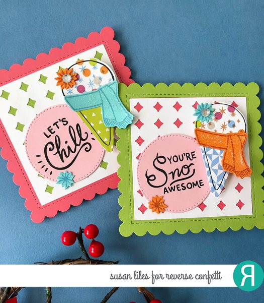 Scalloped Squares Confetti Cuts