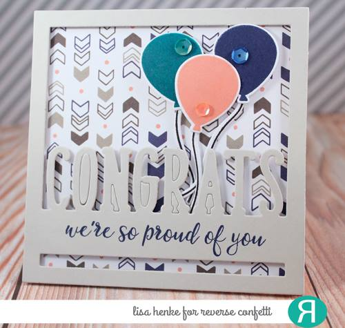 Congrats Square Panel Confetti Cuts