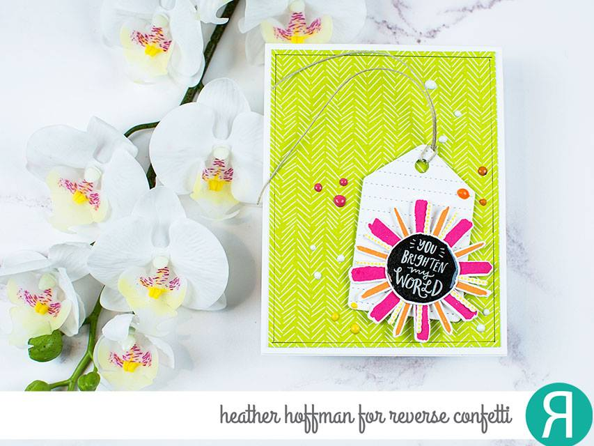 Dashed Line Tag Confetti Cuts