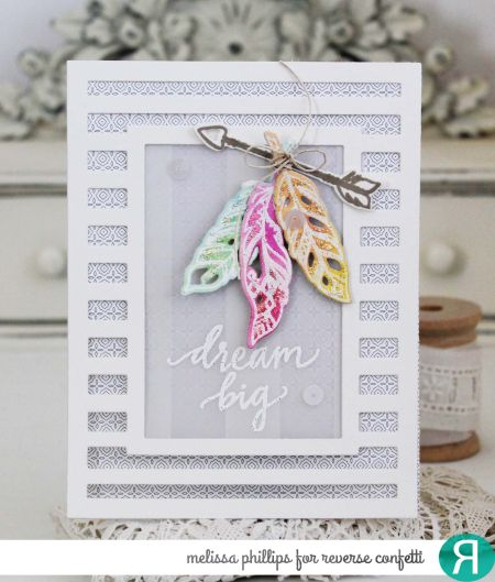 Striped Frame Cover Panel Confetti Cuts