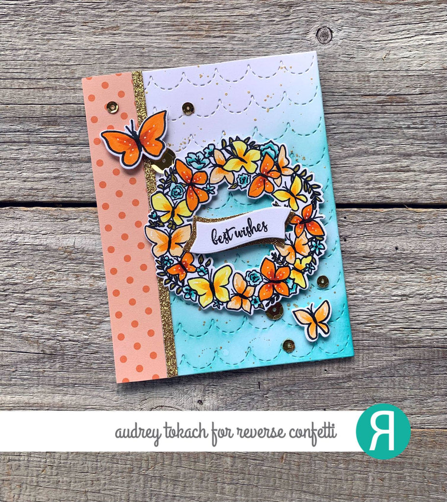 Butterfly Wreath Confetti Cuts