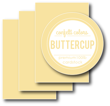 Buttercup Cardstock 8.5 x 11