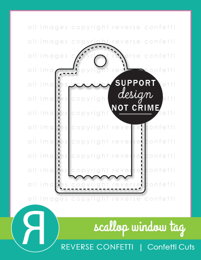 Scallop Window Tag