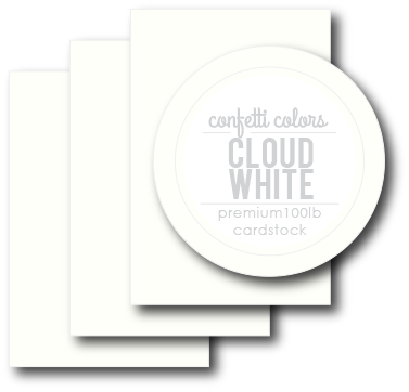 Cloud White Card Stock