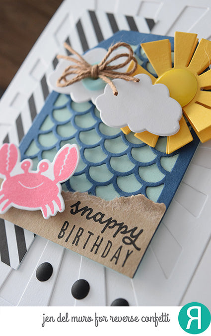 Scalloped Tag Layer Confetti Cuts