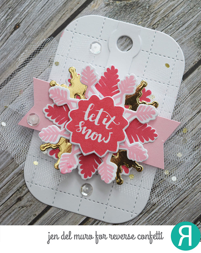Grid Stitched Tag Confetti Cuts