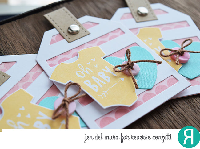 Big Stripes Tag Layer Confetti Cuts