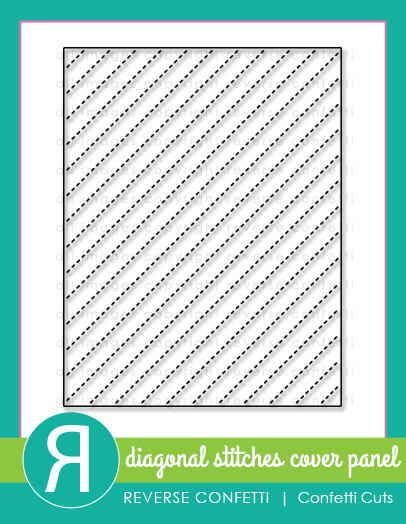 Diagonal Stitches Cover Panel Confetti Cuts