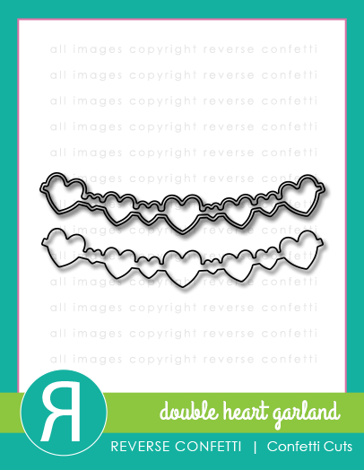 Double Heart Garland Confetti Cuts