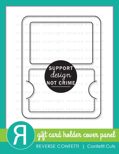 Gift Card Holder Cover Panel Confetti Cuts