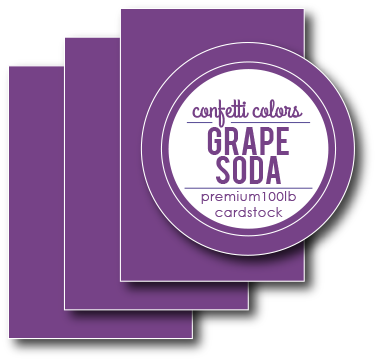 Grape Soda Card Stock