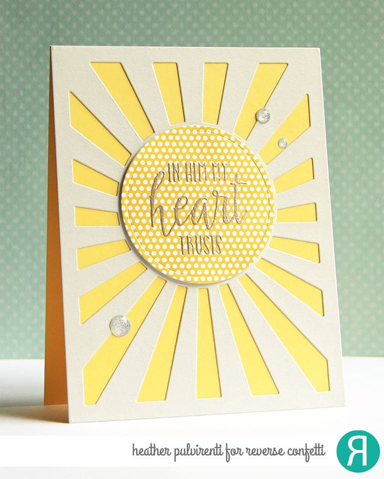 Sunburst Cover Panel Confetti Cuts