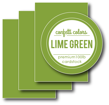 Lime Green Card Stock