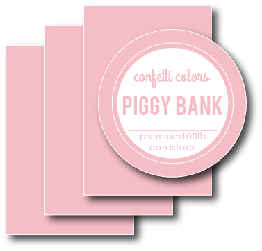 Piggy Bank Cardstock 8.5 x 11
