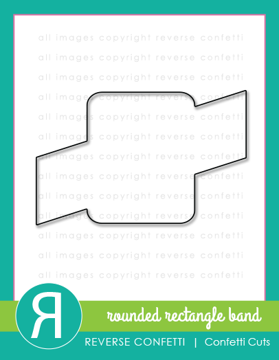 Rounded Rectangle Band Confetti Cuts