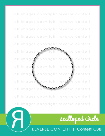 Scalloped Circle Confetti Cuts